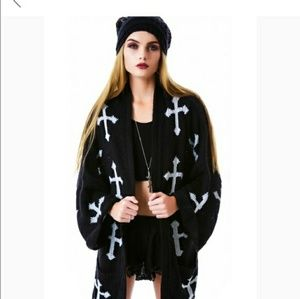 Wildfox Gothic Cross Cardigan